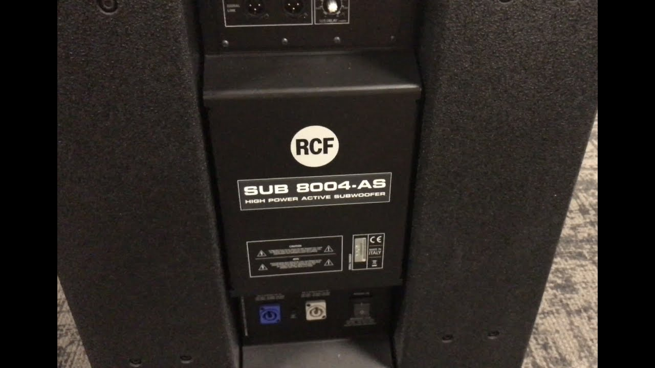 RCF SUB 8004-AS Overview (Authorized Dealers)