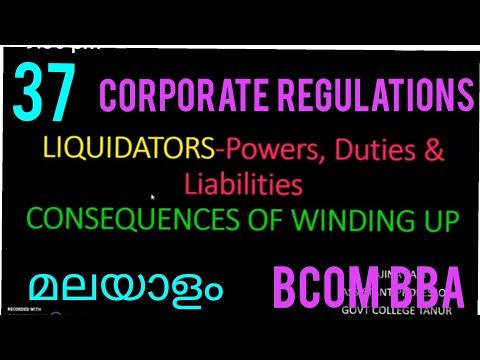 Liquidator/APPOINTMENT /POWERS & DUTIES /LIABILITIES OF LIQU