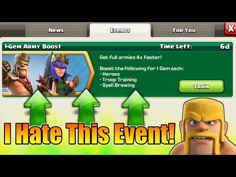 I Hate😠1 Gem Boost Event In Clash Of Clans | And The Reason Is..........?