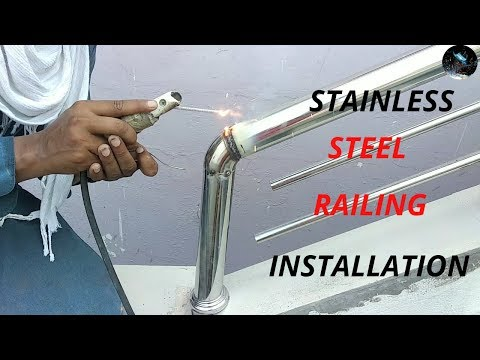stainless steel design for railing || How to install stainless steel railing
