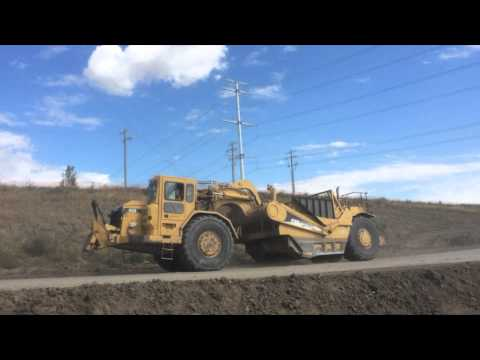 Heavy Equipment Using The Haul Road