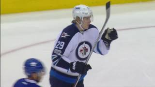 Laine gets 29th goal of the season with a rocket against Maple Leafs