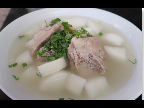 【安吉妈妈的厨房】家常猪骨萝卜汤/chinese-vegetable-and-pork-soup/easy-recipe/chinese-soup