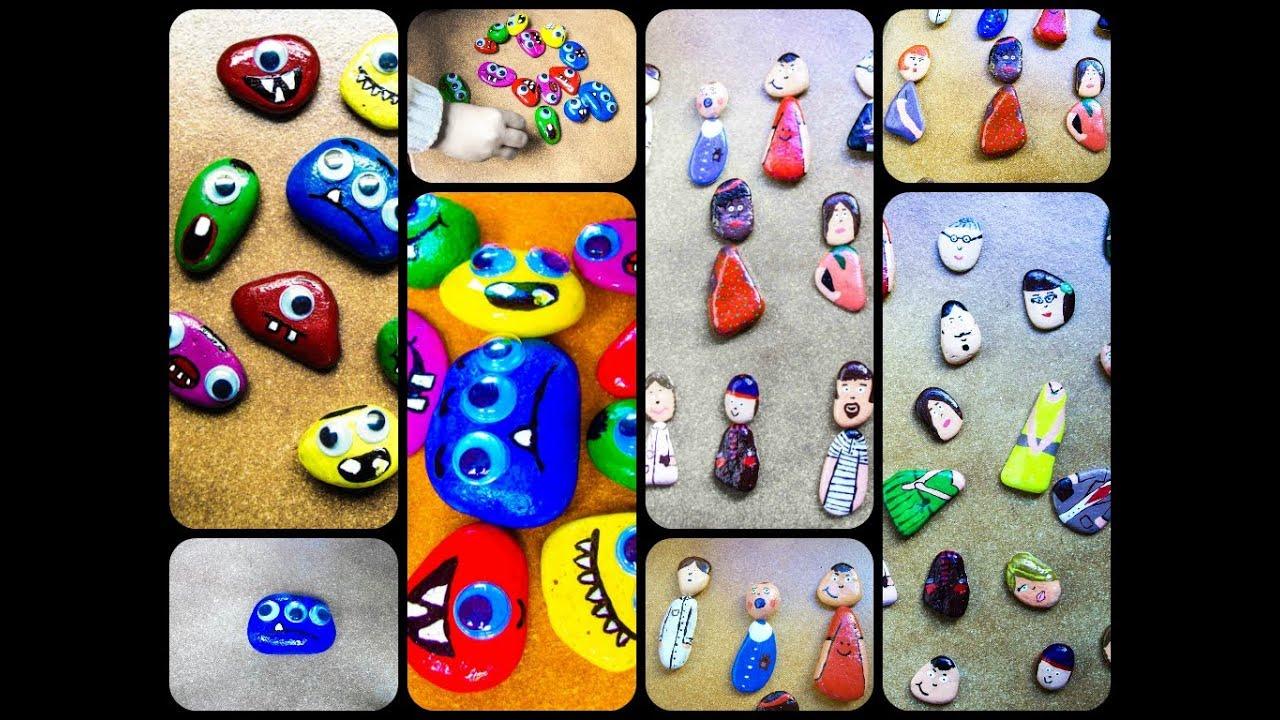 Diy juegos con piedras pintadas youtube for Jardines con piedras fotos