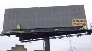 changing a billboard