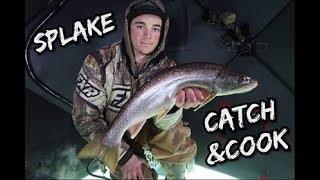Ice Fishing 2019 | Lake Superior Splake (Catch & Cook)