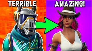 "RANKING ALL ""TIER 1"" BATTLEPASS SKINS FROM WORST TO BEST in Fortnite!"