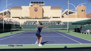 Hubert Hurkacz | Indian Wells Practice, Oct. 12, 2021 (Court Level, 4k 60fps)