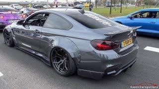 Liberty Walk BMW M4 F82 w/ Akrapovic Exhaust - LOUD Revs & Accelerations !