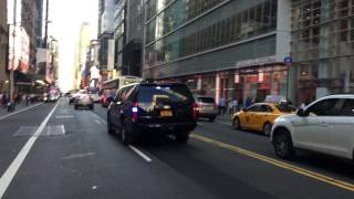 SCORES OF HIGH RANKING NYPD POLICE OFFICERS RESPONDING TO MEAT CLEAVER ATTACK ON NYPD OFFICERS.