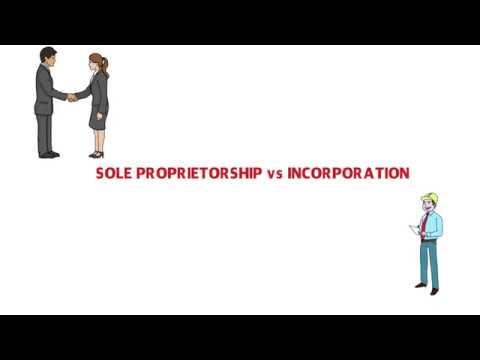 Sole Proprietorship vs Incorporation