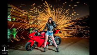 Sony A7Rii Using 5 Axis Image Stabilization on Ducati Motorcycle shoot with fire by Jason Lanier