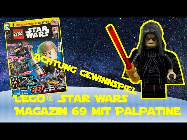 Lego Star Wars Magazin Ausgabe 69 mit Imperator Palpatine Minifigur - Gewinnspiel