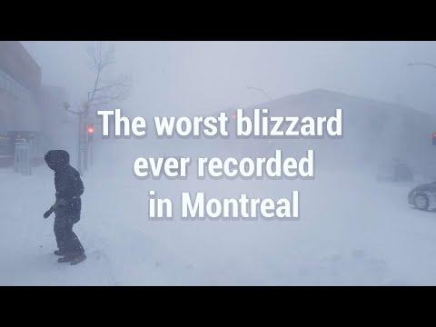 20 Janvier 2019   Jour De Tempête à Montréal