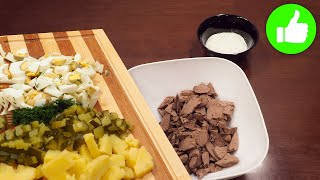 Самый вкусный Советский салат с печенью Его любят взрослые и дети