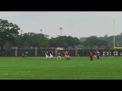 Rutgers quarterbacks take reps on new practice field