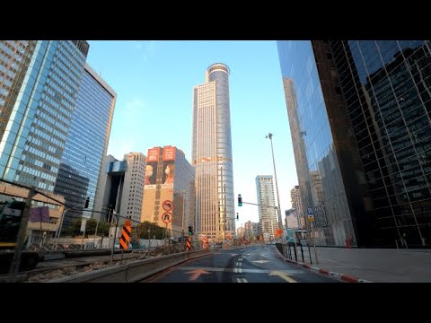 4K Tel Aviv - Hod HaSharon Driving In Israel 2020 נסיעה מתל אביב להוד השרון ישראל