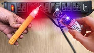DIY #49 | Chế Bút Thử Điện Không Tiếp Xúc - Âm Tường Các Kiểu Kém Gì Bút VOLTALERT 1AC-D