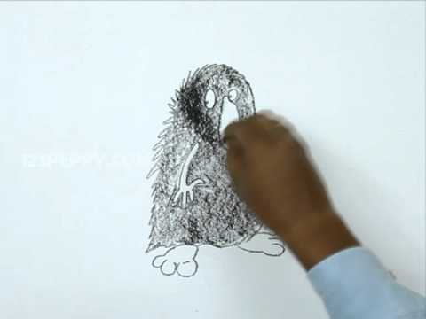 How to Draw a Hairy Monster