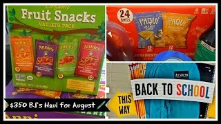 Super Large $350 Back to School stock up haul at BJ's