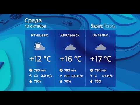 Прогноз погоды на 10 октября 2018