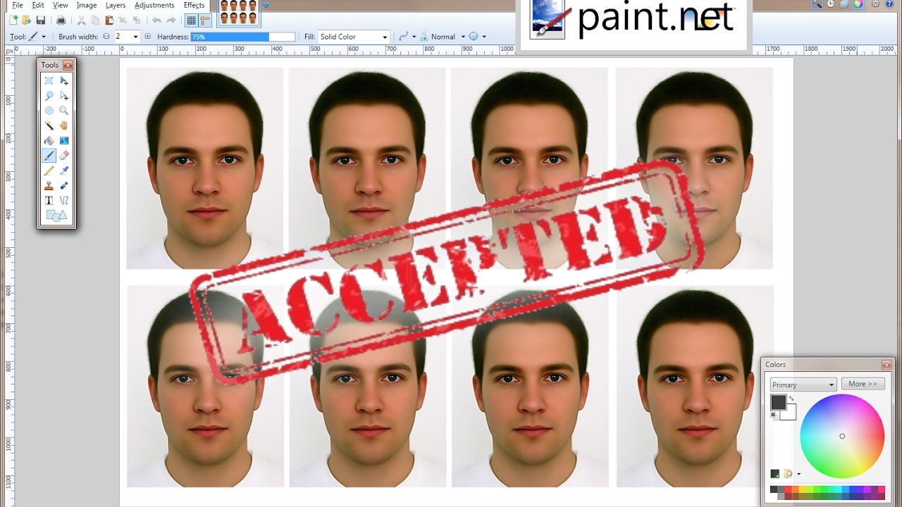 How To Make A Photo Passport Size On Paint
