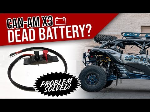 Can-am X3 Battery Dead? Problem Solved!