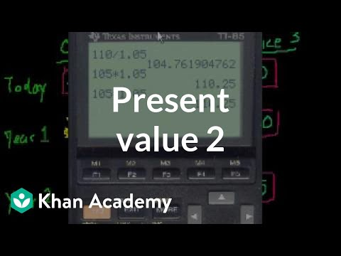 Present Value 2 | Interest and debt | Finance & Capital Markets | Khan Academy