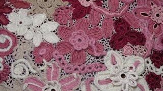 Ирландское кружево. Видео готового ЖАКЕТА вязаного в технике ирландского кружева. Irish lace.