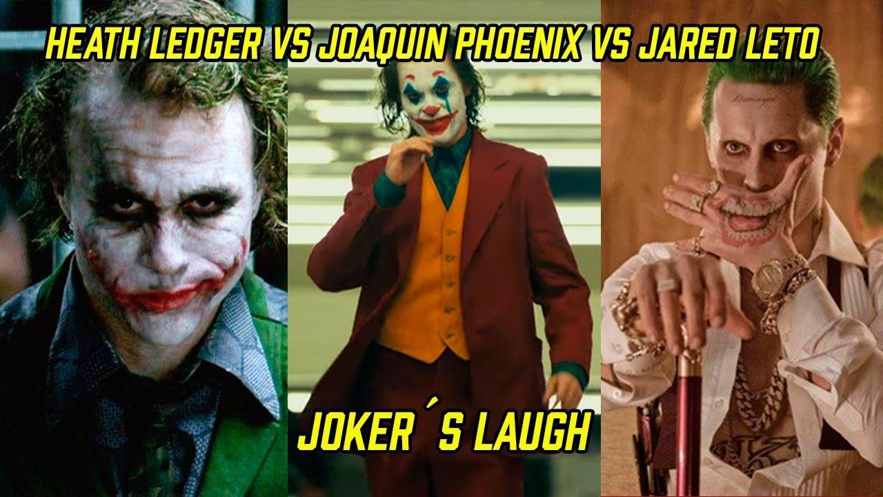 Heath Ledger Vs Joaquin Phoenix Poll: Joker´s Laugh Comparison Heath Ledger VS Joaquin Phoenix
