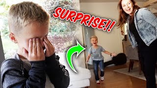 Close Your EYES! HUGE SURPRISE For Jackson! | Ellie and Jared