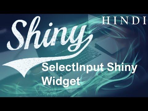 R Shiny Tutorial #5 SelectInput Shiny Widget ( हिन्दी) - YouTube