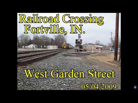 Railroad Crossing: West Garden Street, Fortville, IN  CSX Main Track 1&2