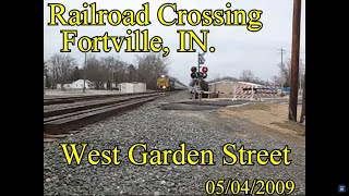 Railroad Crossing: West Garden Street, Fortville, IN. CSX Main Track 1&2
