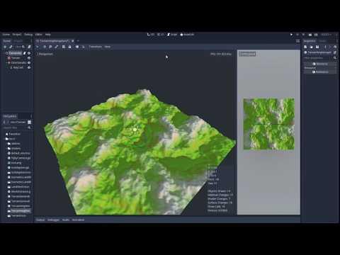 Tutorial on Procedural Terrain Generation in Godot Game Engine thumbnail