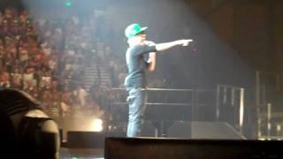 Justin Bieber is wearing my John Deere hat. 07/02/10 Moline, IL @justinbieber @davereynoldscba