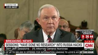 Lindsey Graham grills Jeff Sessions on Russian hacking Free HD Video