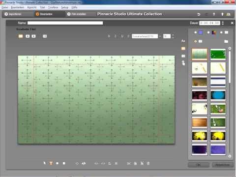 Disc Menü erstellen Teil 1 in Pinnacle Studio 14 und 15
