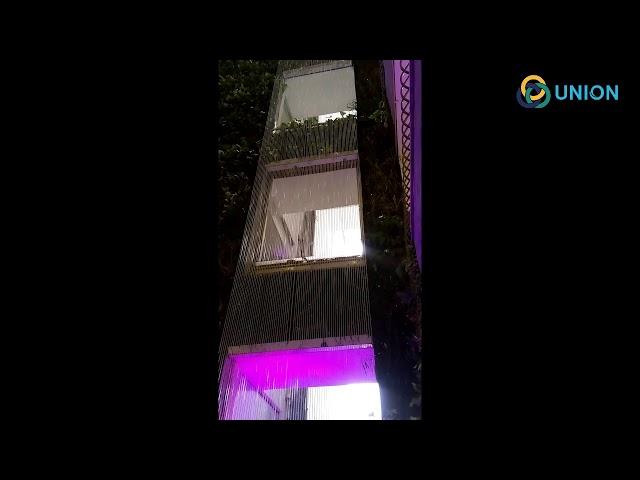 Màn nước dây cước cao 50m tại tòa nhà 5 sao LEMEN | UNION JSCO
