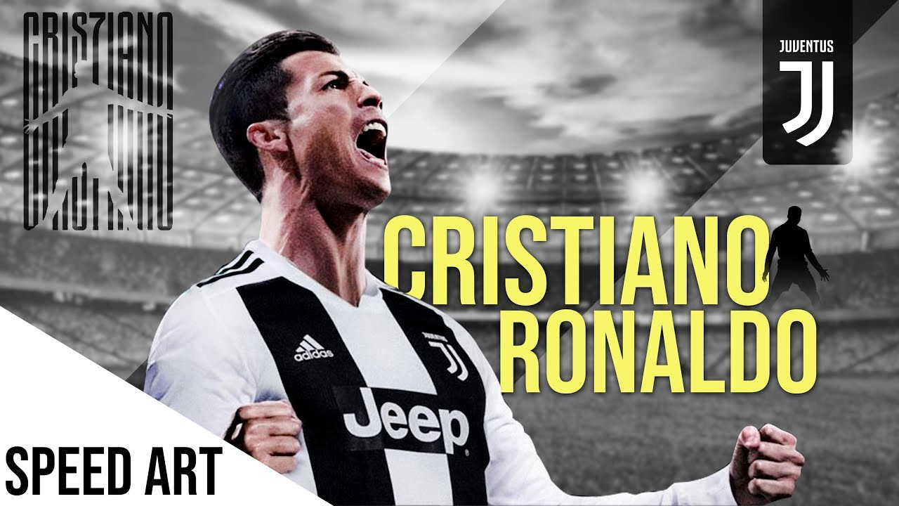 Cristiano Ronaldo Juventus Wallpaper In Photoshop Football Wallpaper Speed Art Youtube