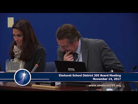 2017-11-14 Elmhurst 205 School Board Meeting