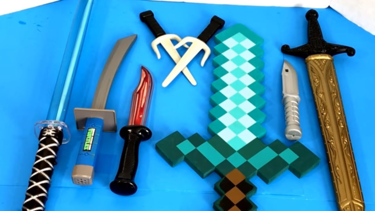 Toy Swords And Guns : Box of toys ⚔️ full 🛡 toy weapons 💣 swords