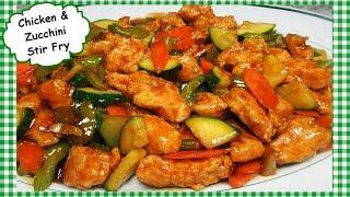 Spicy Chinese Chicken and Zucchini Stir Fry Recipe