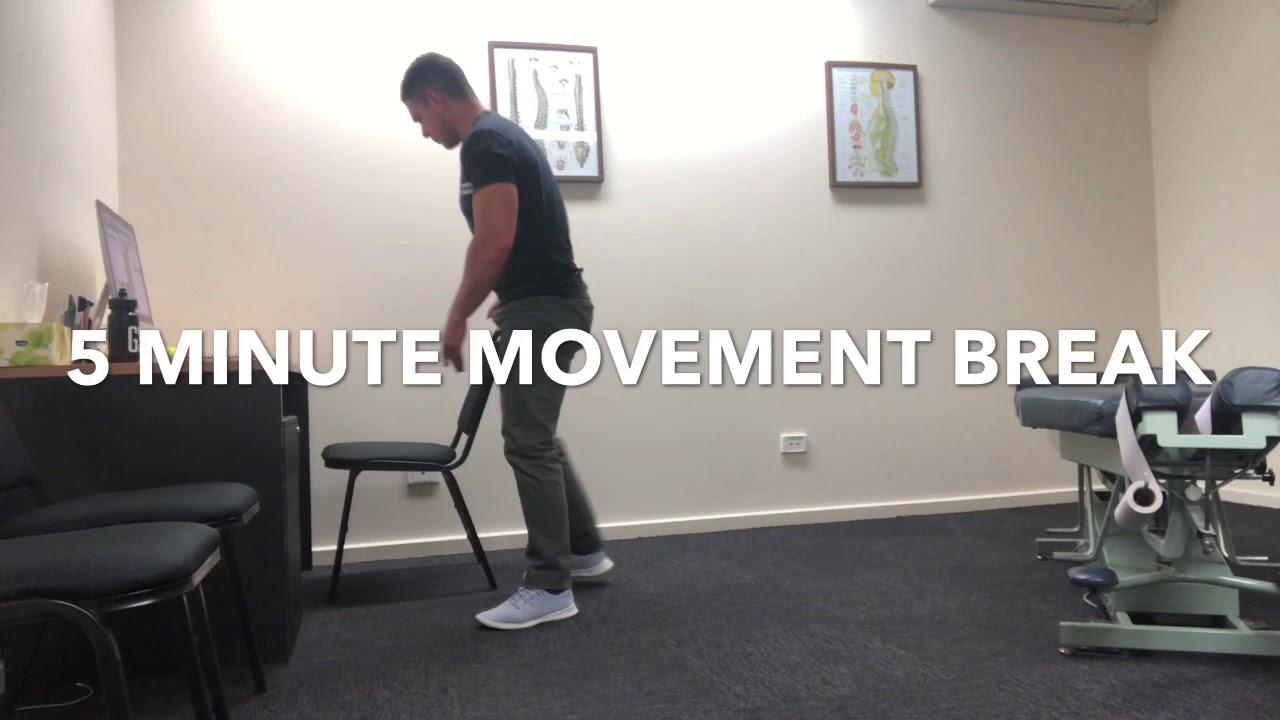 A tension busting 5 minute stretch break
