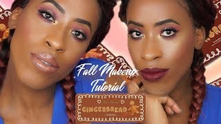 Fall Makeup Tutorial Feat. Too Faced Cosmetics Gingerbread Spice Palette with 2 lip options