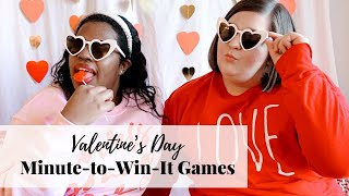 Valentine's Day Minute To Win It Challenge | Fun And Easy Games Using Conversation Hearts