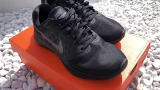 Nike Downshifter 7 Sneaker Triple Black ON FEET