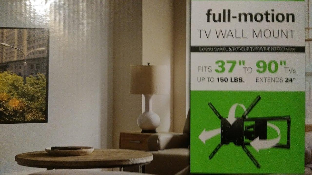 Full Motion Tv Wall Mount Youtube