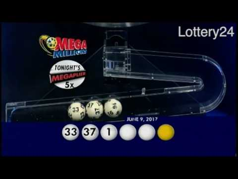 2017 06 09 Mega Millions Numbers and draw results