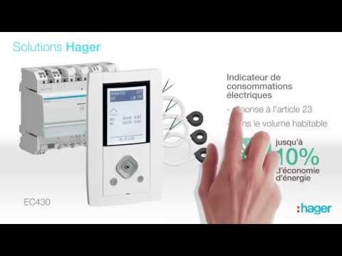 Mise en œuvre : indicateur de consommations Hager